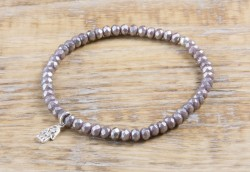 Pure Sparkle Capuccino mit Silber Charm Armband