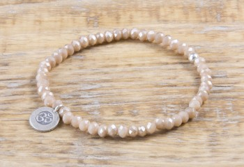Pure Sparkle Sandstone mit Silber Charm Armband