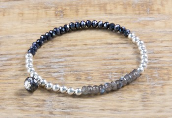Silver Sparkle - Midnight Blue & Labradorit Armband